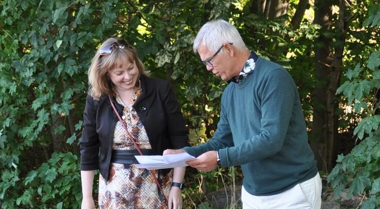 Kirkeminister Joy Mogensen og Provst Keld Balmer fra Bogense