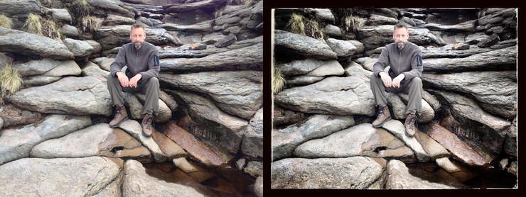 Foto før og efter redigering i Snapseed