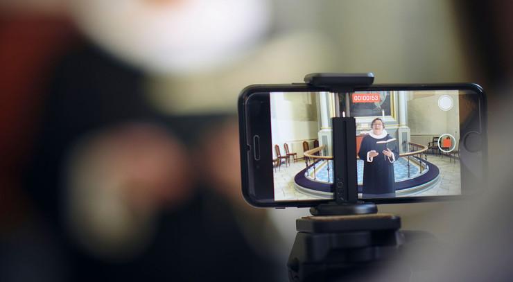 Videooptagelse af gudstjeneste