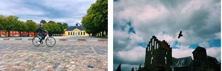 Cyklist og kirke