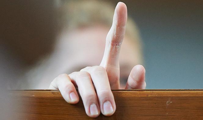 Billede af pegefinger