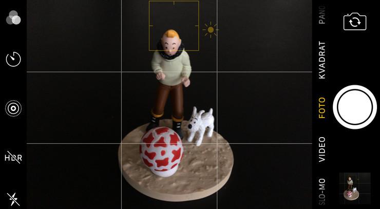 Billede af Tintin - Kamera-app på iPhone