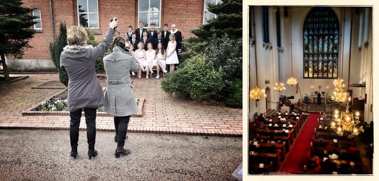 Kirke og konfirmander