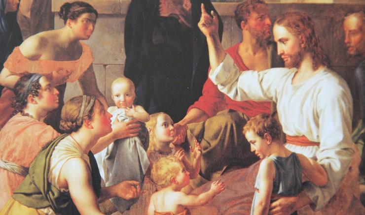 Billede af Jesus og børn og mødre