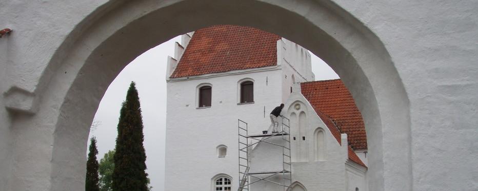 Kirke under renovation